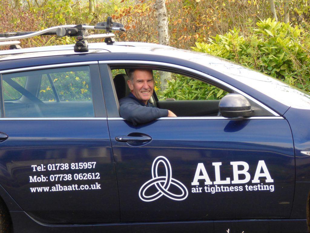 Andrew Fairbairn Alba air tightness testing